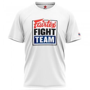 T-SHIRT FAIRTEX TST51 FIGHT TEAM MUAY THAI COTTON WHITE