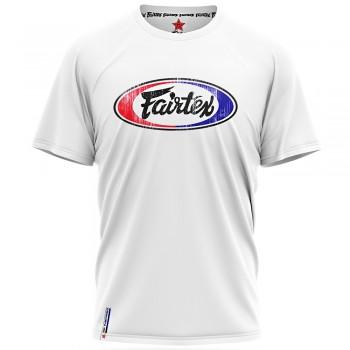 T-SHIRT FAIRTEX TST4 MUAY THAI COTTON WHITE