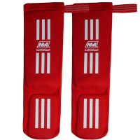SHIN GUARDS NATIONMAN ELASTIC COMPETITION RED