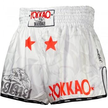 MUAY THAI BOXING SHORTS YOKKAO FIGHT TEAM CARBONFIT MICROFIBER SIZE L