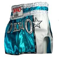 MUAY THAI SHORTS YOKKAO CARBON BLUE SIZE XL