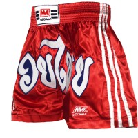 NATIONMAN MUAY THAI SHORTS RED SIZE L