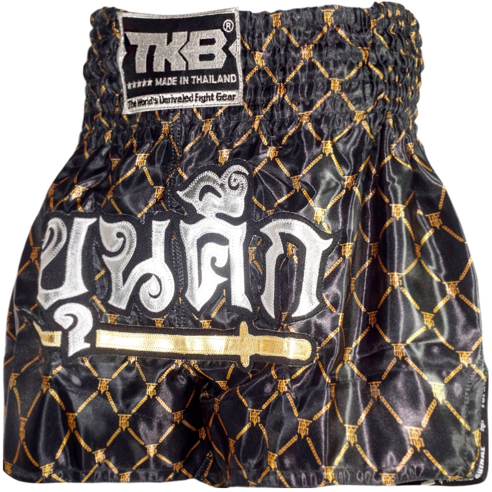 MUAY THAI BOXING SHORTS TKB TKTBS-217 CHAIN SIZE L