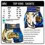 MUAY THAI BOXING SHORTS TKB TKTBS-300 WHITE-BLUE SIZE L
