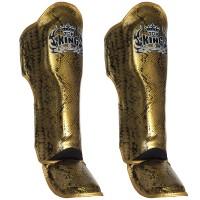 SHIN GUARDS TOP KING SNAKE TKSGSS-02 BLACK-GOLD SIZE LARGE