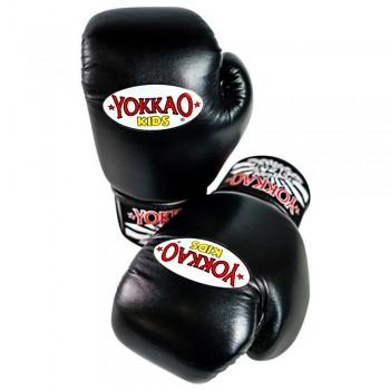 BOXING GLOVES YOKKAO FOR KIDS BLACK 6 OZ