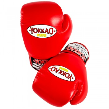 BOXING GLOVES YOKKAO FOR KIDS RED 8 OZ