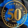 MUAY THAI BOXING SHORTS FAIRTEX BS1917 GOLDEN JUBILEE SOLID