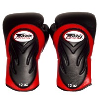 BOXING GLOVES TWINS SPECIAL BGVL-6 BLACK-RED