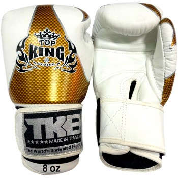 BOXING GLOVES TOP KING EMPOWER CREATIVITY TBKGEM-01 WHITE-GOLD