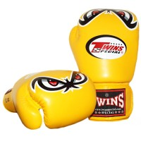 BOXING GLOVES TWINS SPECIAL FBGV-25 YELLOW NO FEAR
