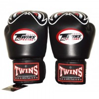 BOXING GLOVES TWINS SPECIAL FBGV-25 BLACK NO FEAR