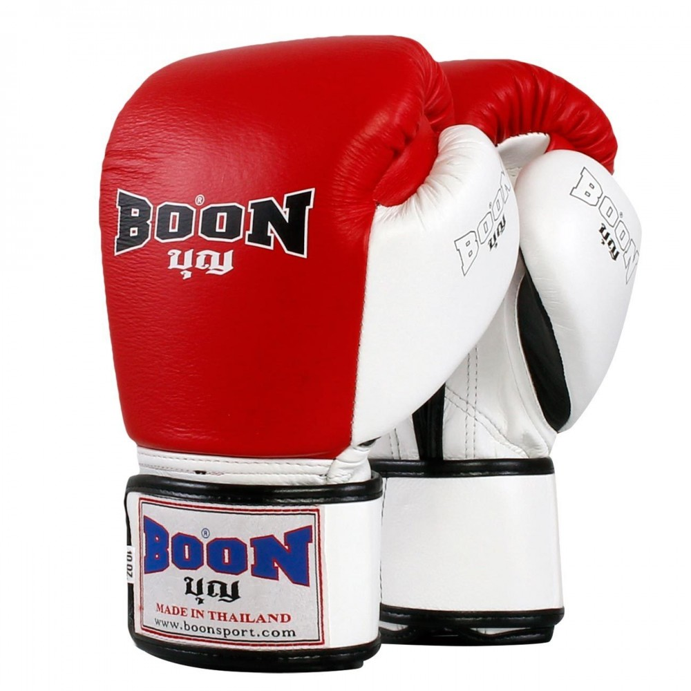 BOXING GLOVES BOON BGCW COMPACT VELCRO RED-WHITE