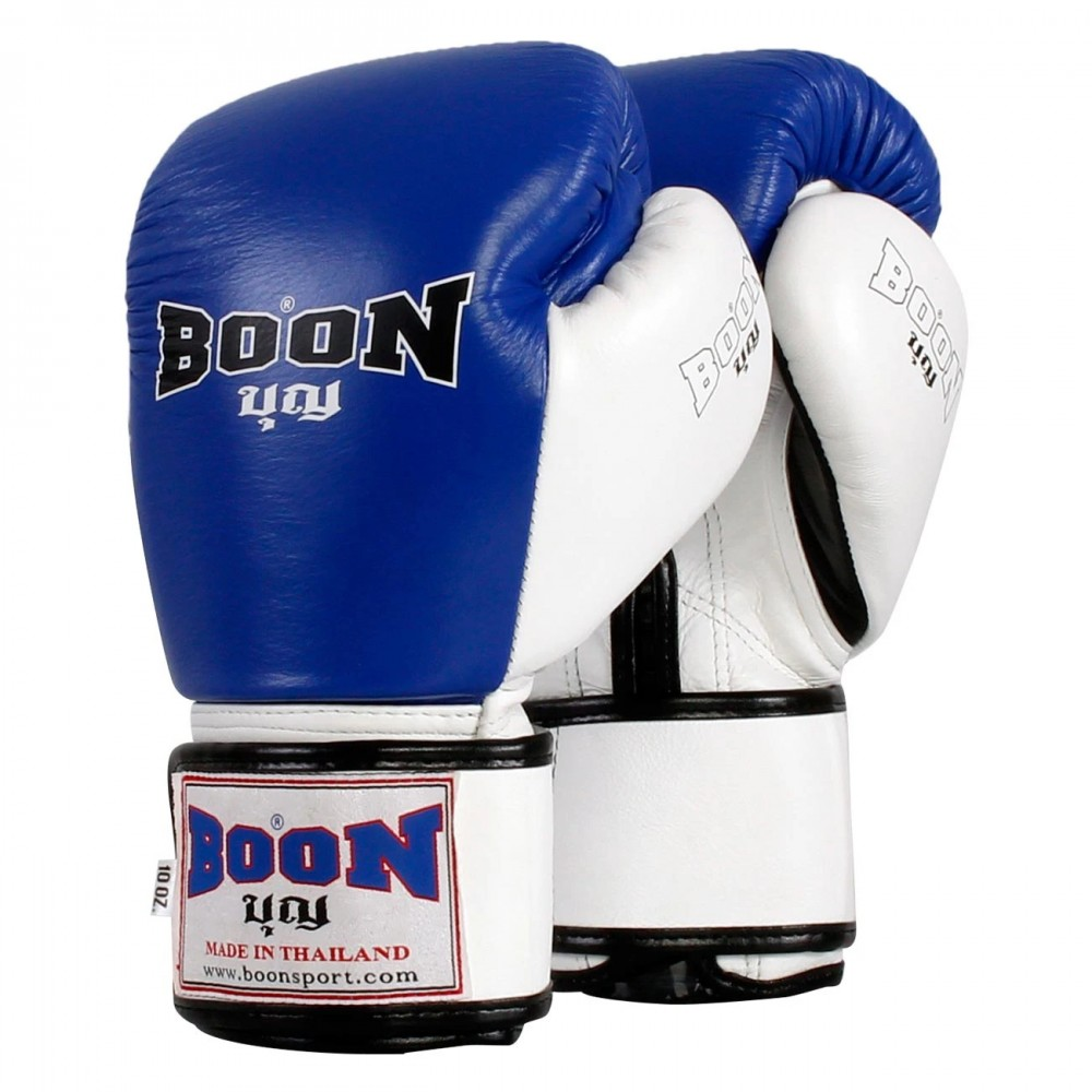 BOXING GLOVES BOON BGCW COMPACT VELCRO BLUE-WHITE