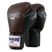 BOXING GLOVES BOON BGCW COMPACT VELCRO BROWN