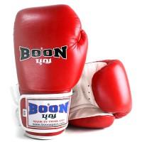 BOXING GLOVES BOON BGVBR RED-WHITE VELCRO
