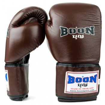 BOXING GLOVES BOON BGVBR BROWN VELCRO