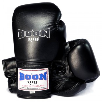 BOXING GLOVES BOON BGLBR LACE-UP BLACK