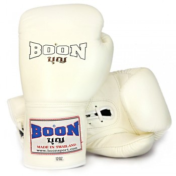 BOXING GLOVES BOON BGLBR LACE-UP WHITE