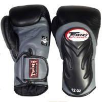 BOXING GLOVES TWINS SPECIAL BGVL-6 BLACK-GREY
