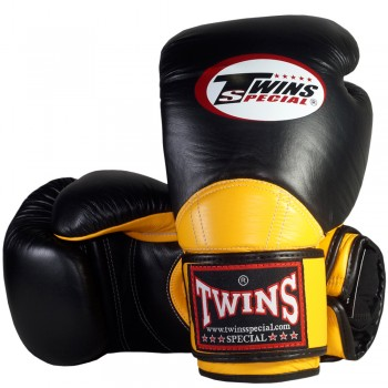 BOXING GLOVES TWINS SPECIAL BGVL-11 BLACK-YELLOW