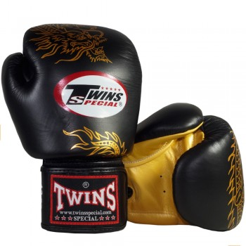 BOXING GLOVES TWINS SPECIAL FBGV-6 BLACK-GOLD