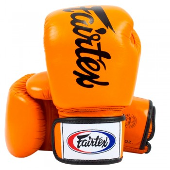 BOXING GLOVES FAIRTEX BGV19 DELUXE TIGHT-FIT GLOVES ORANGE