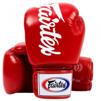 BOXING GLOVES FAIRTEX BGV19 DELUXE TIGHT-FIT GLOVES RED