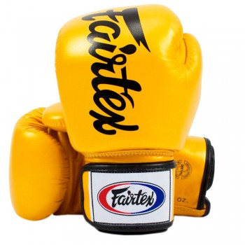 BOXING GLOVES FAIRTEX BGV19 DELUXE TIGHT-FIT GLOVES GOLD