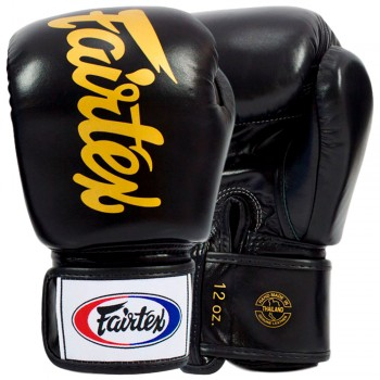 BOXING GLOVES FAIRTEX BGV19 DELUXE TIGHT-FIT GLOVES BLACK