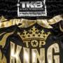 MUAY THAI BOXING SHORTS TKB TKRMS-006 BLACK RETRO STYLE SIZE S
