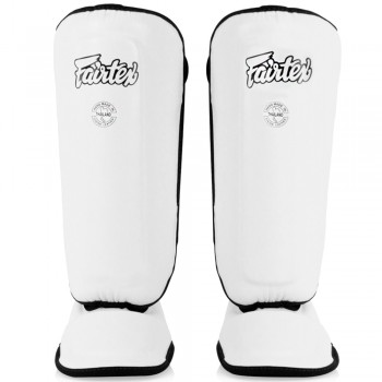 FAIRTEX SPK9 KIDS MUAY THAI SHIN GUARDS white
