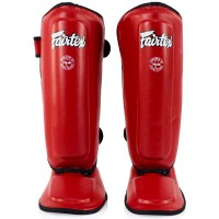 FAIRTEX SPK9 KIDS MUAY THAI SHIN GUARDS RED
