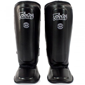 FAIRTEX SPK9 KIDS MUAY THAI SHIN GUARDS BLACK