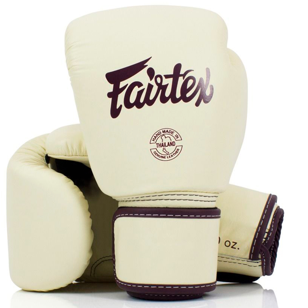 BOXING GLOVES FAIRTEX BGV16  WOMAN REAL LEATHER KHAKI