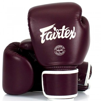 BOXING GLOVES FAIRTEX BGV16  WOMAN REAL LEATHER MAROON