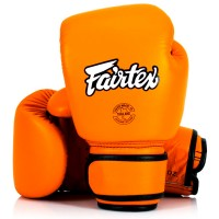 BOXING GLOVES FAIRTEX BGV16  WOMAN REAL LEATHER ORANGE