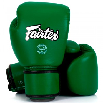 BOXING GLOVES FAIRTEX BGV16  WOMAN REAL LEATHER FORREST GREEN