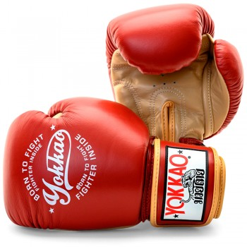 BOXING GLOVES YOKKAO VINTAGE RED FYGL-25-2-10