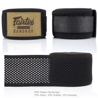 FAIRTEX HW4 ELASTIC HANDWRAP MUAY THAI BLACK