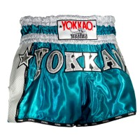 THAI SHORTS YOKKAO  VINTAGE BLUE CARBON  TYBS-071