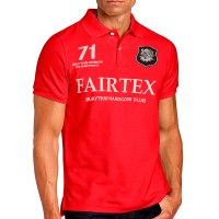 FAIRTEX POLO PL8 T-SHIRT MUAY THAI RED