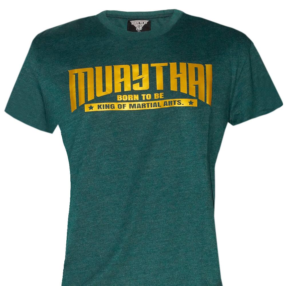 "T-SHIRTS MUAY THAI ""BORN TO BE"" COTTON  MT-999-09"