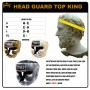 BOXING HEADGEAR TOP KING TKHGSN SNACKE BLACK-SILVER