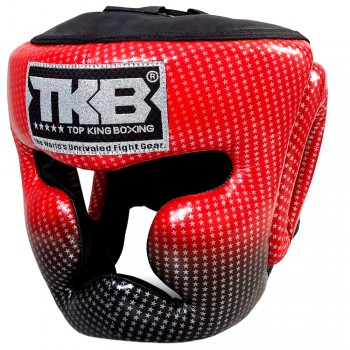 BOXING HEADGEAR TOP KING SUPER STAR RED