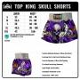 TOP KING MUAY THAI SHORTS TKTBS-046 SCULL