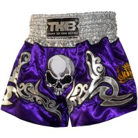 TOP KING MUAY THAI SHORTS TKTBS-046 SCULL