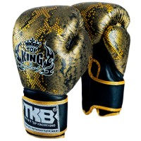 BOXING GLOVES TOP KING SNAKE TKBGSS-02 GOLD BLACK