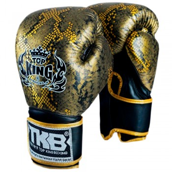 BOXING GLOVES TOP KING SNAKE TKBGSS-02 GOLD BLACK