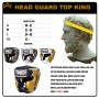 BOXING HEADGEAR TOP KING TOP KING EMPOWER BLACK-GOLD